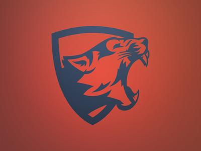 1 Color Animal Logos | Cougar/Mountain Lion/Panther