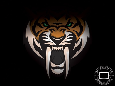 Saber Tooth prehistoric saber tooth tiger tiger identity logo griffin sports branding branding sports identity sports logo