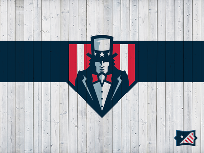 Sam. Uncle Sam. sports design sports branding brand logo sports brand sports logo patriot united states usa patriotic america uncle sam