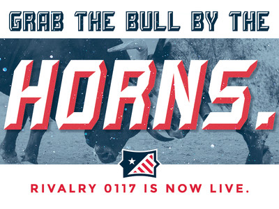 Grab the Bull by the Horns layered font beveled type bevel type display typeface typeface font display font