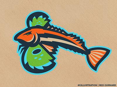 Gillustration Time gurnard branding logo colors fish gillustration