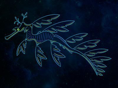 Gillustration Time - Leafy Sea Dragon sea dragon branding logo colors fish gillustration