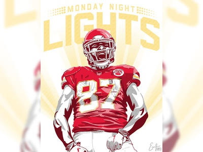 Chiefs Monday Night Lights Illustration
