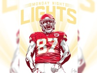 Chiefs Monday Night Lights Illustration