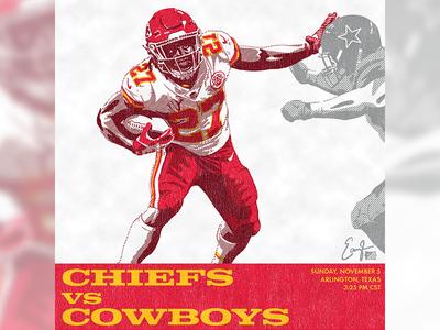 Chiefs @ Dallas Illustration