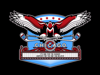 Hawk Marquee hockey chicago blackhawks sports branding sports logo sports design sports