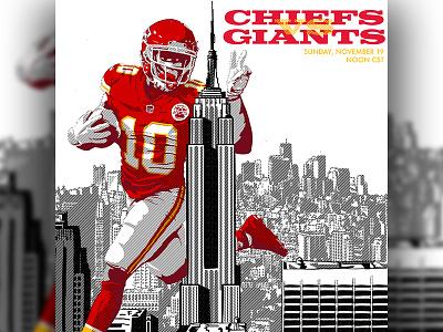 Chiefs @ New York Football Giants - Illustration chiefs kansas city chiefs sports branding sports logo sports design sports