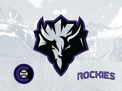 Rockies Concept triceratops type vector sports design sports illustration logo identity sports identity branding sports branding sports logo