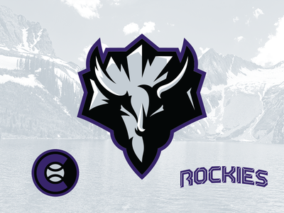Rockies Concept triceratops type vector sports design sports illustration logo identity sports identity branding sports branding sports logo