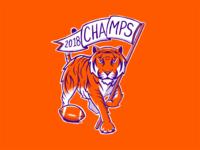 Clemson Vintage Championship Logo