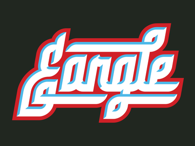 Eargle Custom Script graphic design design vector monogram font typeface illustration typography type sports design sports logo identity sports identity branding sports branding sports logo custom type