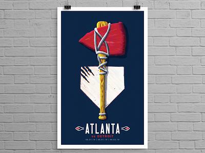 Atlanta Braves Art in the Park Poster Series app braves atlanta design illustration sports design sports logo identity sports identity branding sports branding sports logo