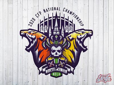CFP Championship Game clemson sports design sports tiger logo identity sports identity branding sports branding sports logo