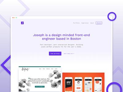 My Redesigned Portfolio interaction design personal site ui website portfolio