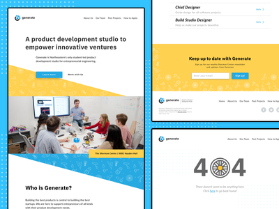 Website Redesign for Generate timber wordpress theme webdev redesign digital branding ux ui student-lead organization web design
