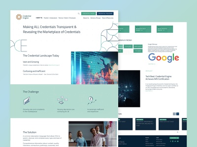 Credential Engine website redesign ui branding interactive credentials website redesign design