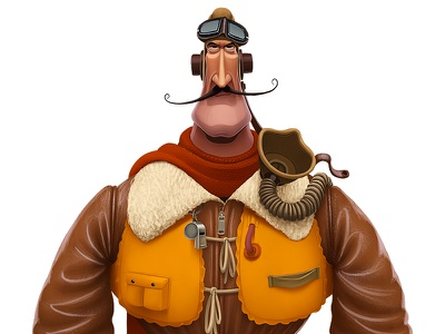 Royal Air Force Pilot ​ characterdesign character ww2 raf royalairforce pilot