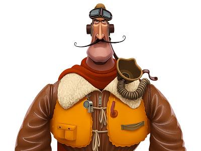 Royal Air Force Pilot  characterdesign character ww2 raf royalairforce pilot
