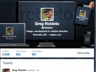 Responsive Twitter Card responsive twitter design card bio macbook ipad iphone