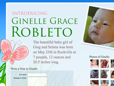 Introducing Ginelle baby butterfly introducing ginelle blue nature birth