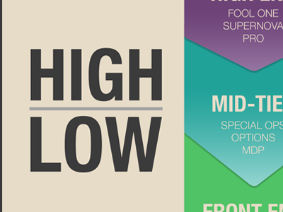 High Low highlow colors arrows