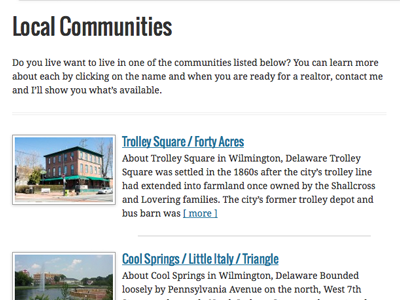 Local Communities in Delaware delaware communities local francesca homes trolley square cool springs little italy