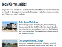 Local Communities in Delaware