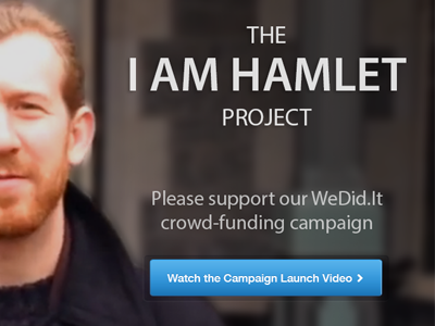 """The """"I am Hamlet"""" Project hamlet shakespeare dsf delaware shakespeare festival hero image headshot button call-to-action"""