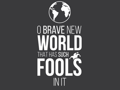 Tempest Quote Tee-shirt tempest shakespeare motley fool fool fools world icons typography tee-shirt