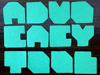 Paper Cutout Typeface