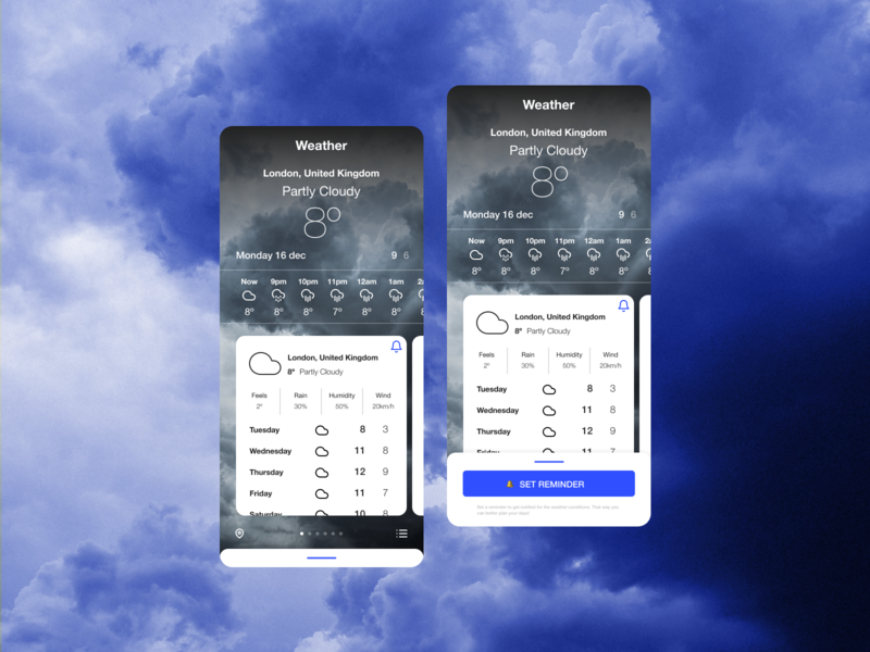 Daily UI #037 - Weather weather inspiration design inspiration weather app design weather app app figma weather ui design ux ui daily ui