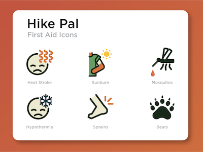 Hike Pal First Aid Icons