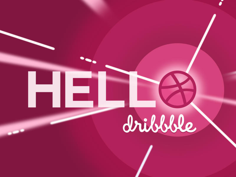 Hello Dribbble! hola hi dribbble hello dribble