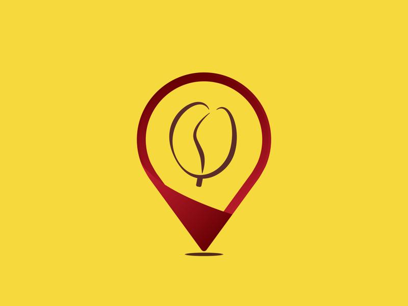 Coffee Pin 📍 coffee graphic pin vector dribbble design artinspiration logoinspiration art logopin logoidea logotheme logoconcept logodaily logo