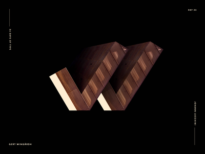 W for Gert Wingårdh - Architype Alphabet Project architecture archi concept art direction design johannlucchini graphic design type typography typo