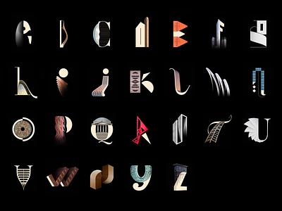 Architype Alphabet Typography architype architecture architect abstract design johannlucchini graphic design art direction typeface alphabet typo type typography