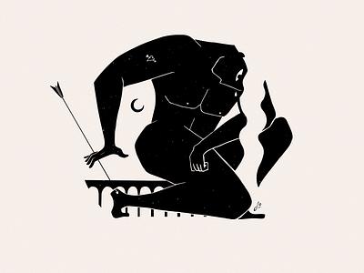 Greek Mythology - Achilles achilles inspiration negative space minimalist black ink mythology design minimal ink illustration greek mythology characterdesign character blackandwhite
