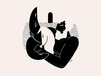 Greek Mythology - Hercules artdirection vectorart design black ink mythology minimalist ink minimal illustration greek mythology characterdesign character blackandwhite