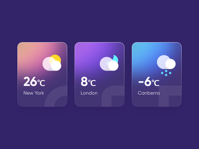 Weather card sketch design ui