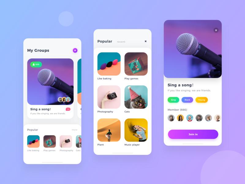 Groups design app ui