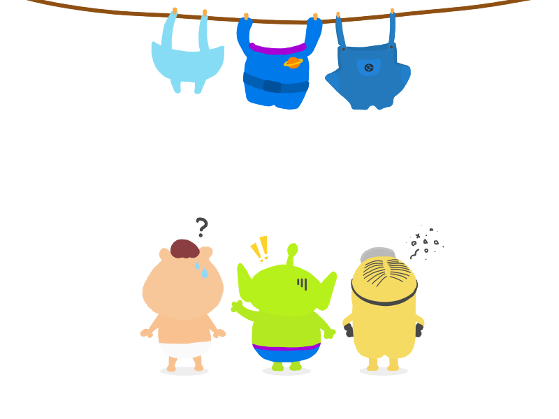 What should I wear? toooyplanet vectorart illustration flat drawing doodle disney minion despicableme alien toystory