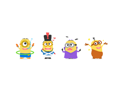 Minions Cosplay! vectorart illustration flat drawing doodle minion art
