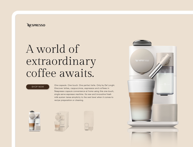 Nespresso Website Redesign nespresso interfacedesign ui redesign website art design