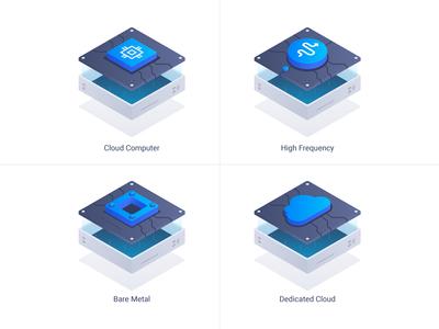 Vultr Isometric Illustrations Redesign