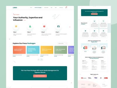 Landing Page creative ui ux design clean design adobe figma adobe xd adobe photoshop web design landing page