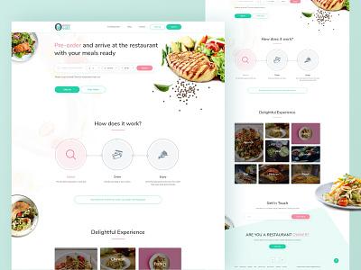Easy Eats Website food landing page food design clean design web design ui ux design creative food website landing page website design