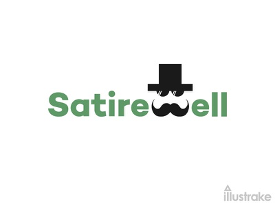 Satirewell Logo Design dribbble news blog logotype symbol mark letter icon logo