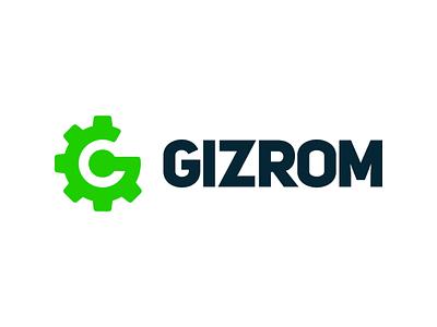 Logo design concept for GIZROM design typography icon logomark illustrator branding graphics illustrations logo