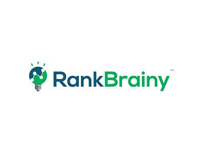 RankBrainy Logo illustration seo illustrator logomark design symbol typography branding logotype illustration dribbble icon logo