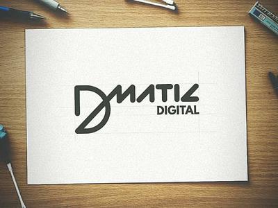 DMatic Digital Logo Design Concept ❤️ type mark letter identity branding icons graphic design illustration logotype typography icon logo
